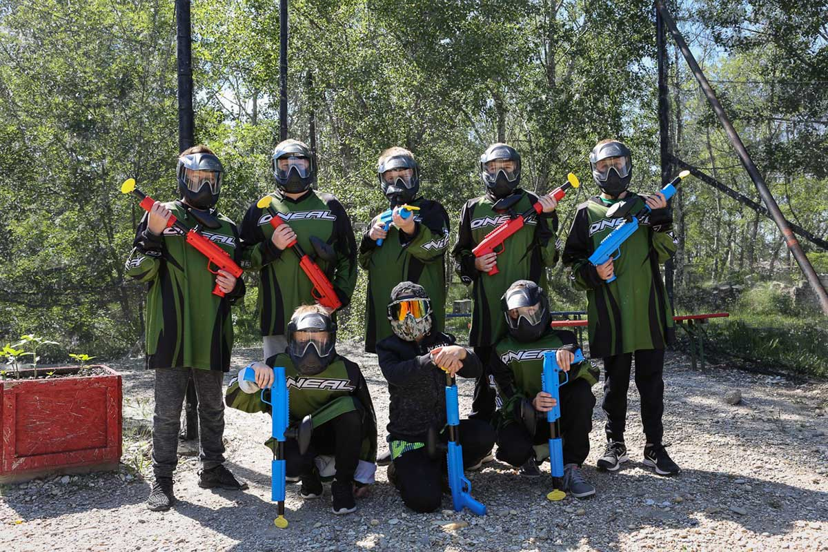 Softpaintball4Kids Gruppenfoto bei Fun-Paintball Schönfeld-Lassee